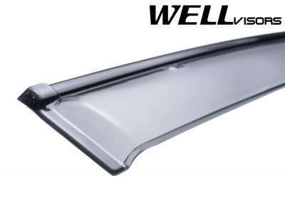 Honda Accord Sedan 2003-2007 Smoked Side Window Vent Visors Deflectors Rain Guard Shade Black Trim