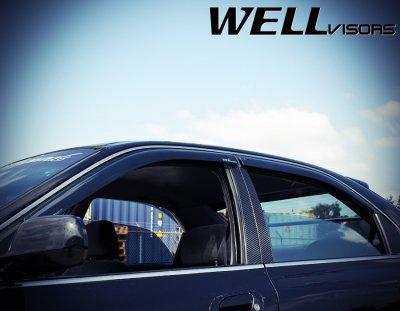 Honda Accord Sedan 1994-1997 Smoked Side Window Vent Visors Deflectors Rain Guard Shade Premium Series