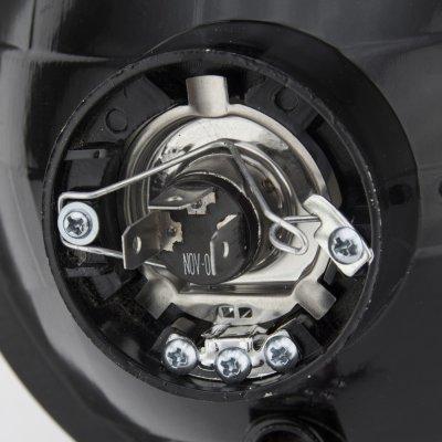 Pontiac Ventura 1972-1977 Red Halo Black Chrome Sealed Beam Headlight Conversion