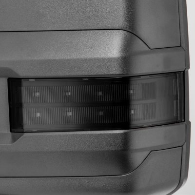 Chevy Silverado 2500HD 2015-2018 Towing Mirrors Smoked LED Signal Lights Power Heated