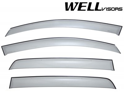 2007 VW GTI Hatchback Smoked Side Window Vent Visors Deflectors Rain Guard Shade Premium Series