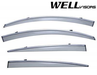 2007 Lexus GS450h Smoked Side Window Vent Visors Deflectors Rain Guard Shade Chrome Trim