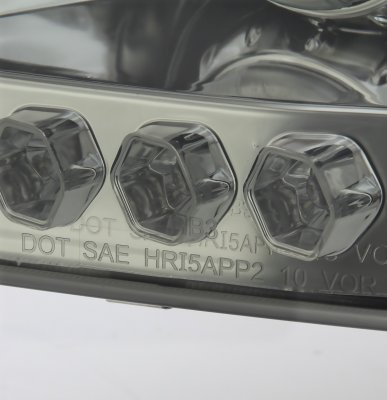 Ford F150 1997-2003 Smoked Halo Projector Headlights with LED