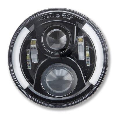 Chevy Blazer 1969-1979 Black LED Projector Sealed Beam Headlights DRL