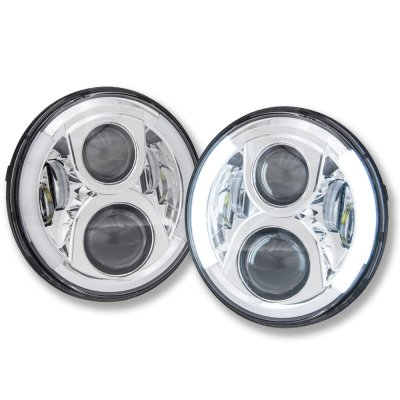 1973 Chevy C10 Pickup LED Projector Sealed Beam Headlights DRL