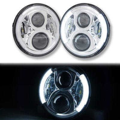 Chevy Nova 1971-1978 LED Projector Sealed Beam Headlights DRL