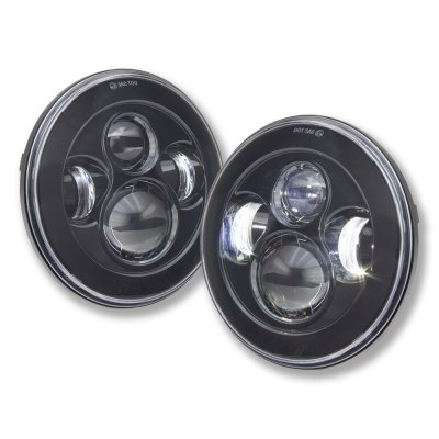 Chevy C10 Pickup 1967-1979 Black LED Projector Sealed Beam Headlights