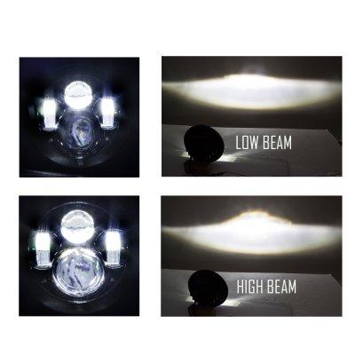 Mercury Comet 1972-1977 Black LED Projector Sealed Beam Headlights