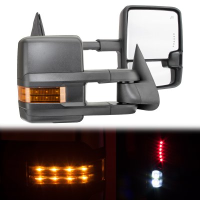 Chevy Silverado 1999 2002 Towing Mirrors Led Drl Lights