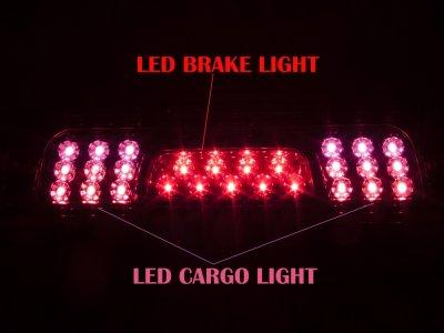 Chevy Silverado 2500HD 2015-2016 Red LED Third Brake Light