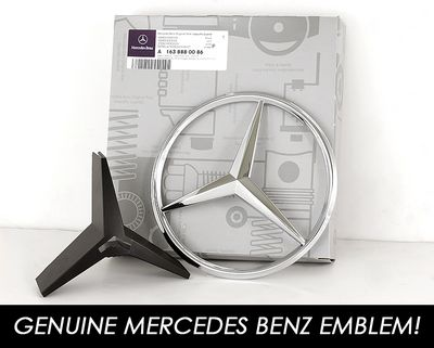 Mercedes Benz M Class 1998-2005 Silver Sport Grille with Emblem