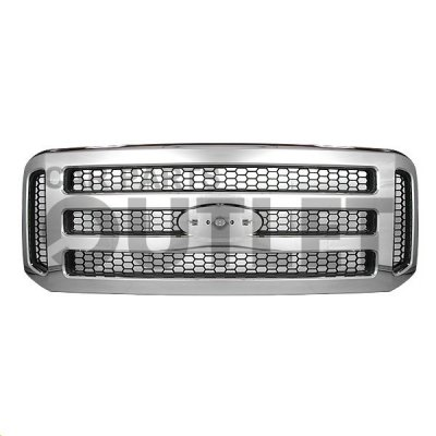 Ford F350 Super Duty 2005-2007 Chrome Replacement Grille