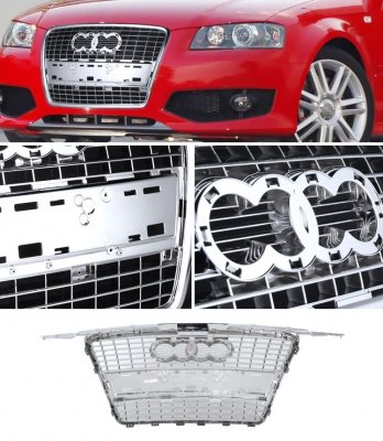 Audi A3 2006-2008 Chrome Replacement Grille