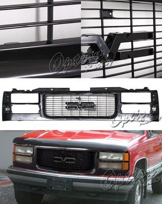 GMC Sierra 2500 1994-2000 Black Replacement Grille