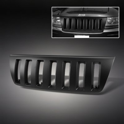 Jeep Grand Cherokee 1999 2004 Black Vertical Grille