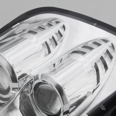 Chevy Corvette C5 1997-2004 Chrome Dual Projector Headlights