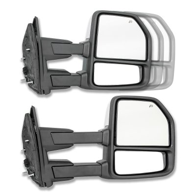 Ford F250 Super Duty 2008-2016 Chrome Towing Mirrors LED DRL Lights Power Heated