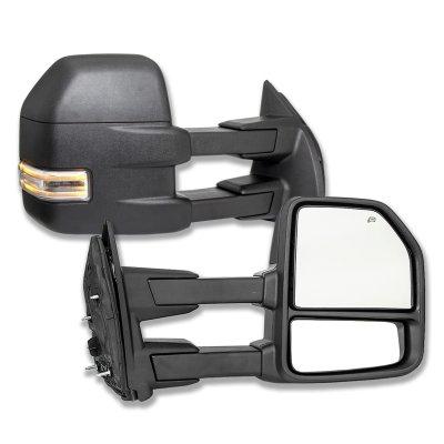 2003-2007 Silverado Sierra Facelift POWER+HEAT Extend Towing Mirrors+LED Signal