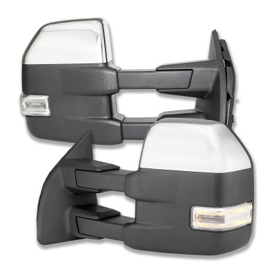 Ford F350 Super Duty 1999 2002 Chrome Towing Mirrors Led
