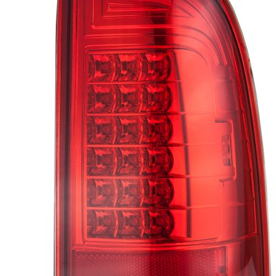 Ford F450 Super Duty 1999-2007 Red Clear LED Tail Lights