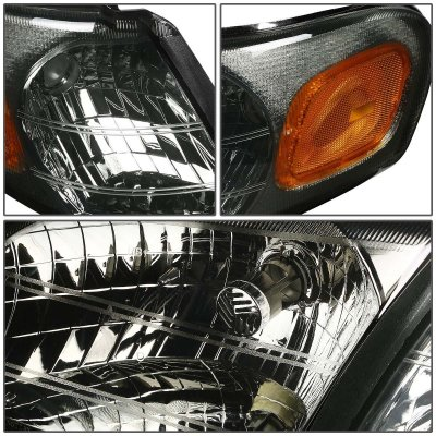Pontiac Trans Sport Van 1997-1999 Smoked Euro Headlights