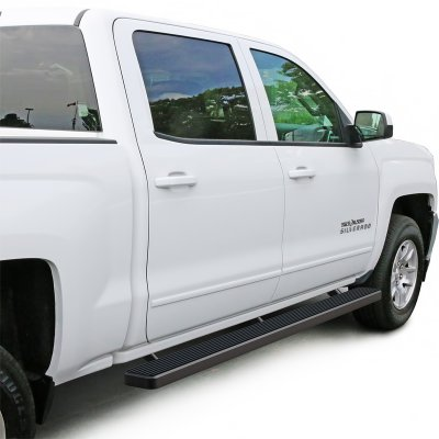 GMC Sierra 3500HD Crew Cab 2015-2017 iBoard Running Boards Black Aluminum Rocker Mount 5 Inches