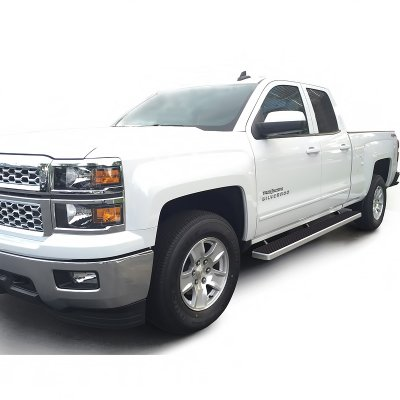 chevy silverado 2500hd double cab 2015 2017 running boards step bars aluminum rocker mount 5. Black Bedroom Furniture Sets. Home Design Ideas