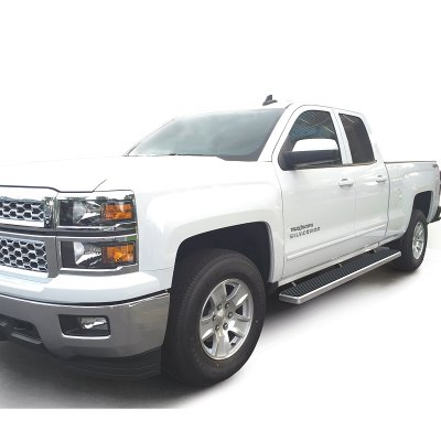 chevy silverado 2500hd double cab 2015 2017 running boards step bars aluminum rocker mount 6. Black Bedroom Furniture Sets. Home Design Ideas
