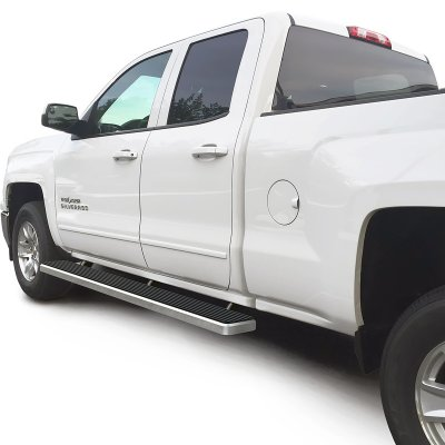 chevy silverado 3500hd double cab 2015 2017 running boards side step rocker mount 6 inches. Black Bedroom Furniture Sets. Home Design Ideas