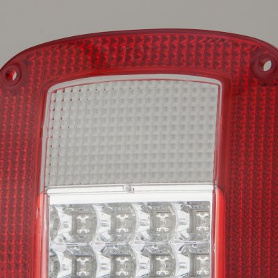 Jeep Wrangler YJ 1987-1995 LED Tail Lights Red and Clear