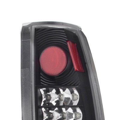 Chevy 1500 Pickup 1988-1998 LED Tail Lights Black Chrome