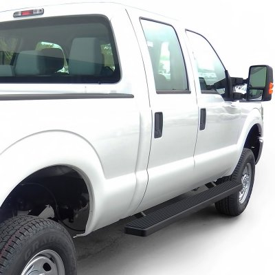 ford f250 super duty crew cab 2011 2016 running boards step bars black aluminum 5 inches. Black Bedroom Furniture Sets. Home Design Ideas