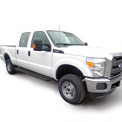 ford f350 super duty crew cab 2011 2016 running boards step bars black aluminum 5 inches. Black Bedroom Furniture Sets. Home Design Ideas