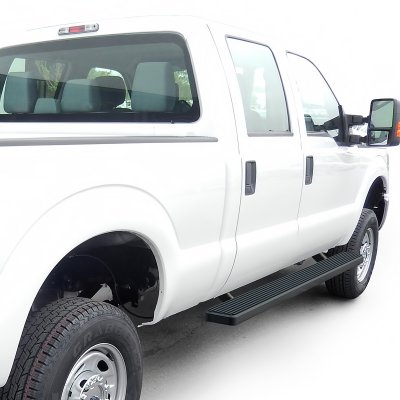 ford f350 super duty crew cab 2011 2016 running boards step bars black aluminum 6 inches. Black Bedroom Furniture Sets. Home Design Ideas