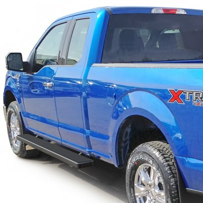 Ford F150 Supercab 2017 Running Boards Step Bars Black Aluminum 6 Inches