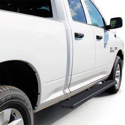 Dodge Ram 1500 Quad Cab 2009-2018 iBoard Running Boards Black Aluminum 5 Inches