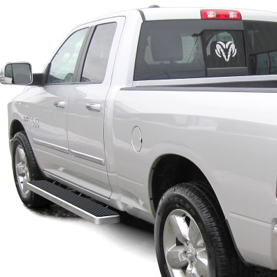 Dodge Ram 1500 Quad Cab 2009-2017 iBoard Running Boards Aluminum 6 Inches