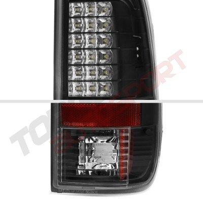 Ford F250 Super Duty 1999-2007 LED Tail Lights Black Chrome