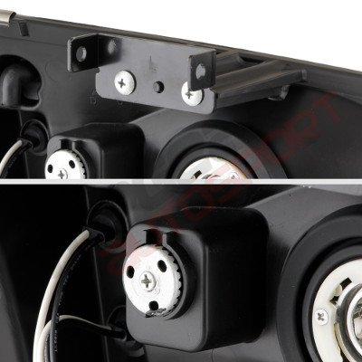 Chevy Silverado 1500 2003-2005 Black Mesh Grille and Headlights Conversion