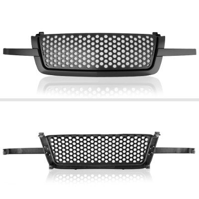 Chevy Silverado 1500 2003-2005 Black Grille Punch Style