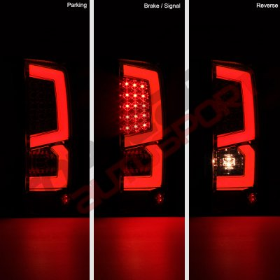 Gmc Sierra 1500 2007 2013 Custom Led Tail Lights Red