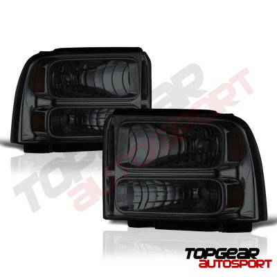 Ford F250 Super Duty 2005 2007 Smoked Headlights And Led Tail Lights