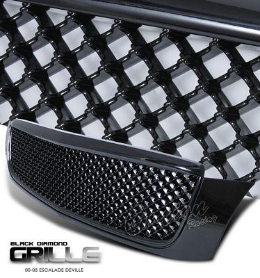 Cadillac Deville 2000-2005 Black Mesh Grille