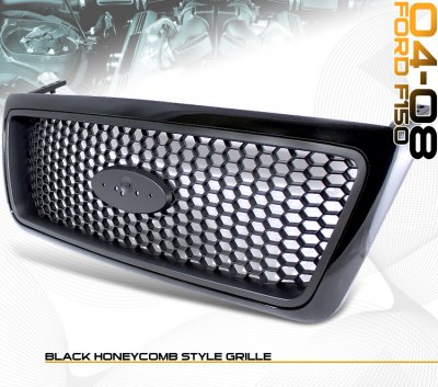 Ford F150 2004 2008 Black Honeycomb Mesh Grille