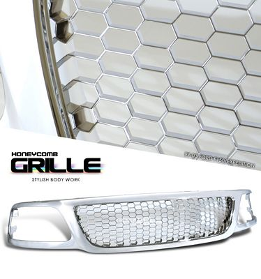 Ford  F150 1999-2003 Chrome Honeycomb Mesh Grille
