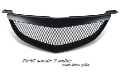Mazda 3 2004-2006 Sedan Black Steel Mesh Grille