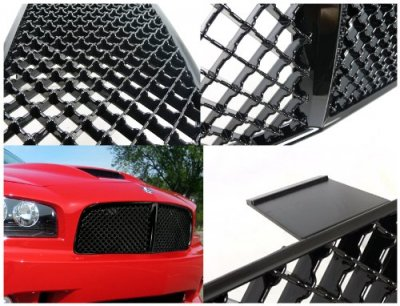 Dodge Charger 2006-2010 Black Mesh Grille