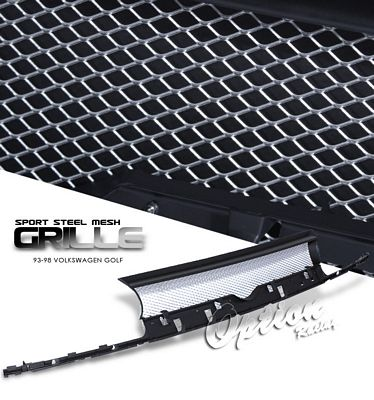 VW Golf 1993-1998 Silver Steel Mesh Grille