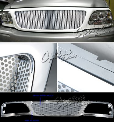 2002 Ford F150 Chrome Punch Custom Grille