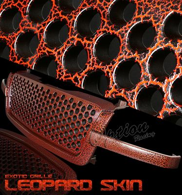 Chevy Silverado 2003-2005 Red Leopard Skin Denali Style Grille